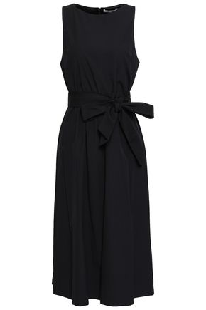 ALICE + OLIVIA Belted cotton-poplin dress