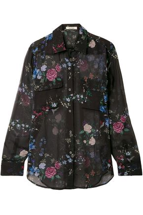 EQUIPMENT Daddy floral-print silk-chiffon shirt