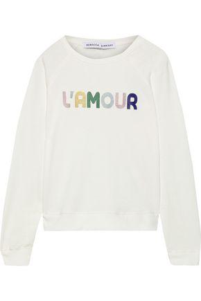 REBECCA MINKOFF Jennings printed French cotton-blend terry sweatshirt