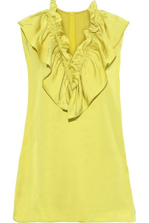 MARNI Ruffled satin top