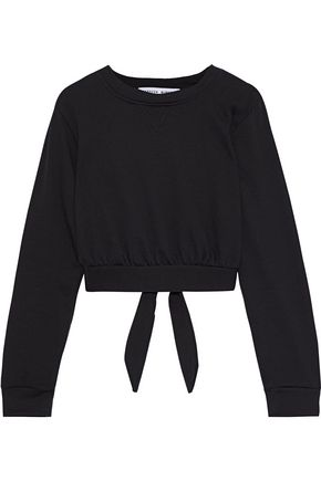Molly Tie Back French Cotton Blend Terry Sweatshirt by Rebecca Minkoff