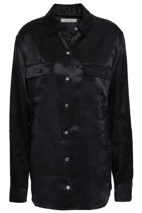 EQUIPMENT Signature satin-jacquard shirt
