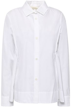 MARNI Pleated cotton shirt