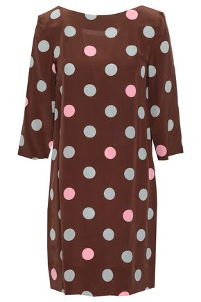 MARNI Polka-dot silk crepe de chine mini dress