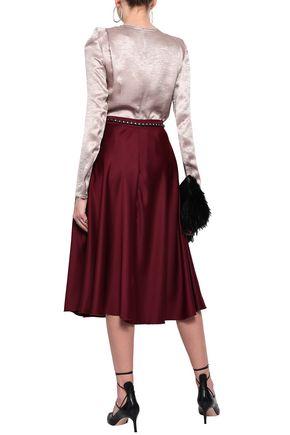 ANN DEMEULEMEESTER Crinkled satin blouse