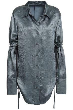 ANN DEMEULEMEESTER Gathered satin shirt