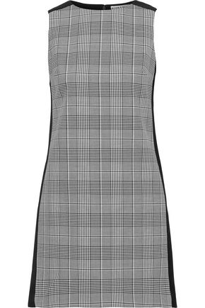 ALICE + OLIVIA Clyde Prince of Wales checked woven and cady mini dress