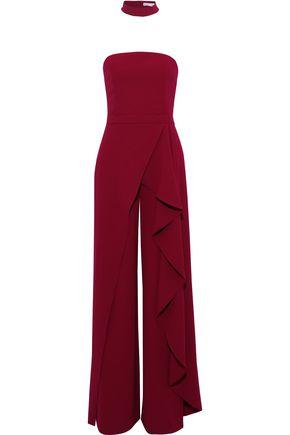 ALICE + OLIVIA Latonya strapless ruffled crepe jumpsuit