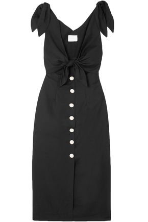 ALICE McCALL Nara knotted cutout poplin midi dress