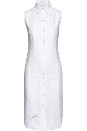 THOM BROWNE Lace-up cotton-poplin shirt dress