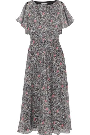 MIKAEL AGHAL Floral-print georgette midi dress