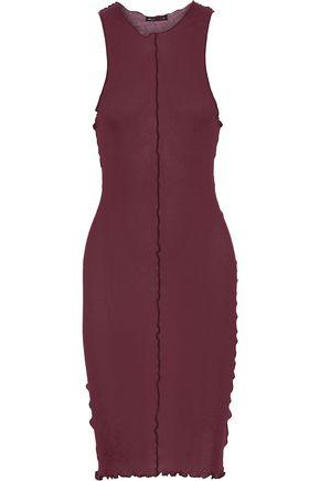 ANN DEMEULEMEESTER Ruffle-trimmed slub jersey dress