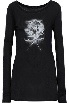 ANN DEMEULEMEESTER Printed slub jersey top