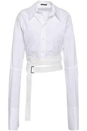 ANN DEMEULEMEESTER Cropped cotton-poplin shirt