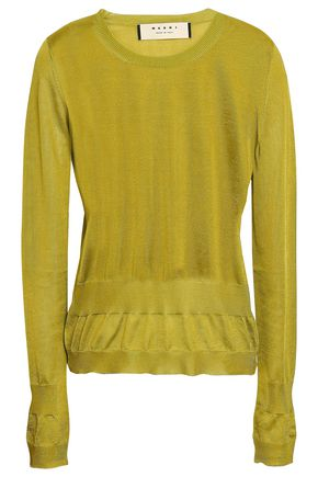 MARNI Gathered silk sweater