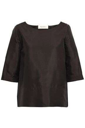MARNI Cotton and silk-blend twill blouse