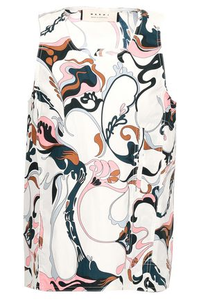 MARNI Printed cotton-poplin top