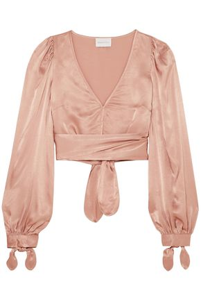 ALICE McCALL I Like That cropped satin top