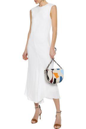TIBI Open-back silk crepe de chine midi dress