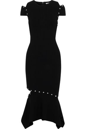 ALICE + OLIVIA Ameera cutout studded stretch-knit dress