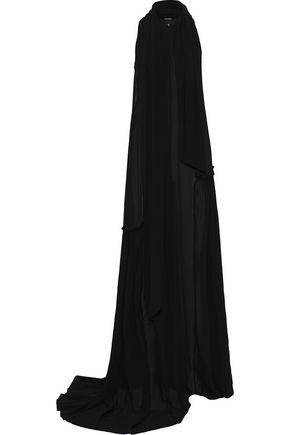 ANN DEMEULEMEESTER Pleated chiffon gown