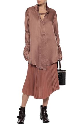 ANN DEMEULEMEESTER Ruched charmeuse shirt