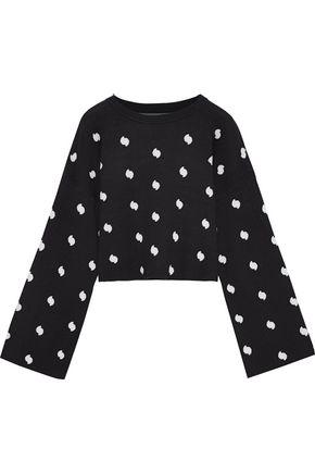 CURRENT/ELLIOTT The Weslan cropped jacquard-knit sweater