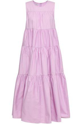 CO Gathered tiered cotton-poplin midi dress