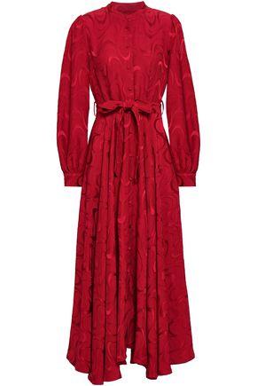 CO Belted jacquard midi dress