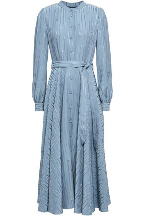 CO Belted jacquard midi dress