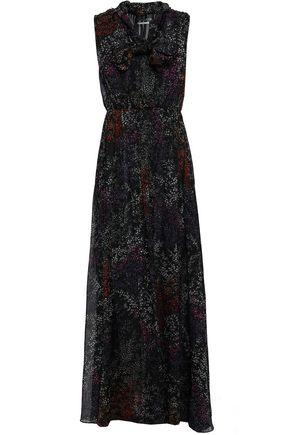 CO Pussy-bow floral-print silk-chiffon maxi dress