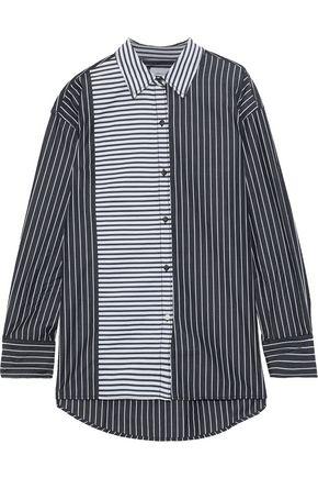 CURRENT/ELLIOTT The Allen paneled striped cotton-poplin shirt