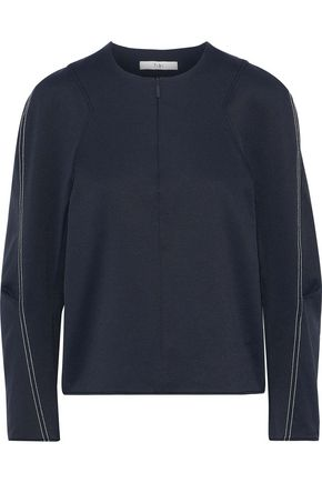 TIBI Stretch-twill top
