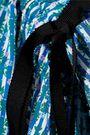 CAROLINA HERRERA Bow-detailed floral-print stretch-cotton poplin blouse