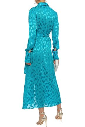 CAROLINA HERRERA Fil coupé georgette midi shirt dress
