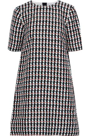 MARNI Printed cotton and silk-blend mini dress