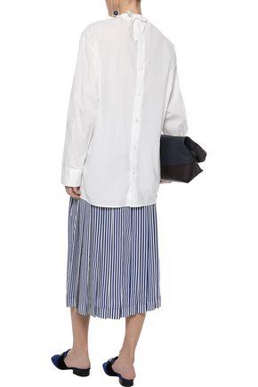 MARNI Asymmetric cotton-poplin blouse
