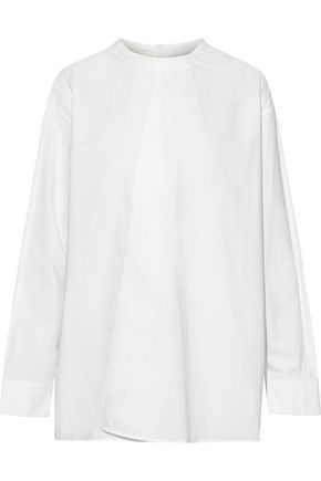 MARNI Asymmetric cotton-poplin blouse