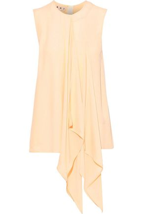 MARNI Draped crepe de chine top