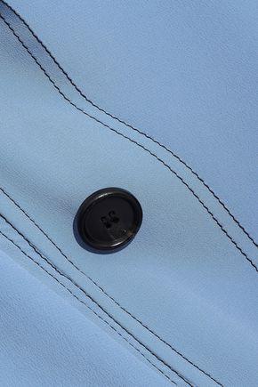 MARNI Draped button-detailed crepe de chine top