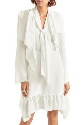 SEE BY CHLOÉ Tie-neck crepe de chine dress