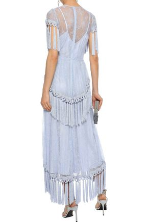 ALICE McCALL More Than A Woman tassel-trimmed Chantilly lace maxi dress