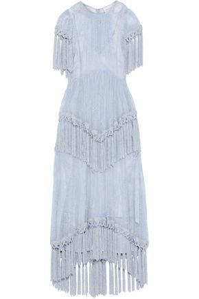 b6490da0b9 ALICE McCALL More Than A Woman tassel-trimmed Chantilly lace maxi dress