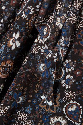 SEE BY CHLOÉ Tie-neck printed georgette dress