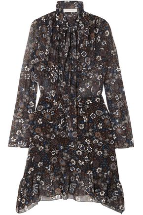 SEE BY CHLOÉ Pussy-bow printed georgette dress