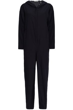 TIBI Cutout twill hooded jumpsuit