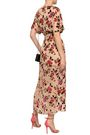 ALICE + OLIVIA Carine wrap-effect floral-print devoré-chiffon midi dress