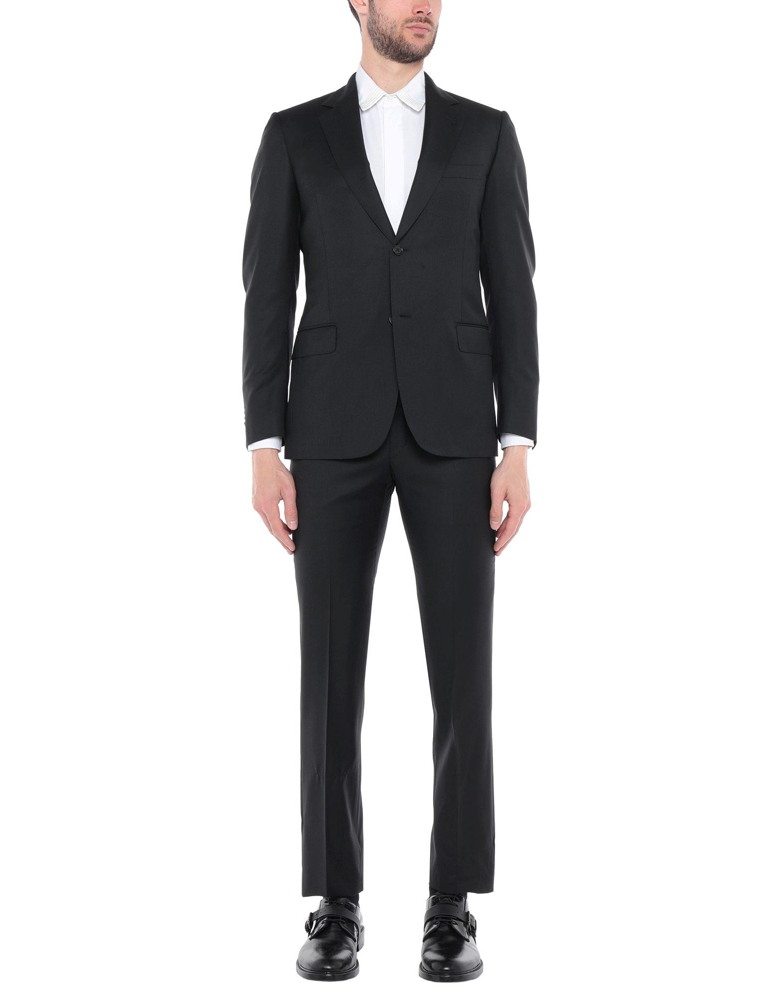 《送料無料》SARTORIA CASTANGIA メンズ スーツ ブラック 46 スーパー130 ウール 100%