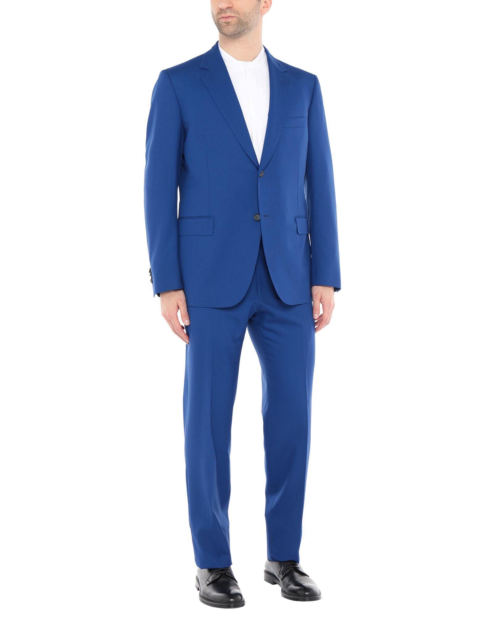 《送料無料》SARTORIA CASTANGIA メンズ スーツ ブルー 44 スーパー120 ウール 100%