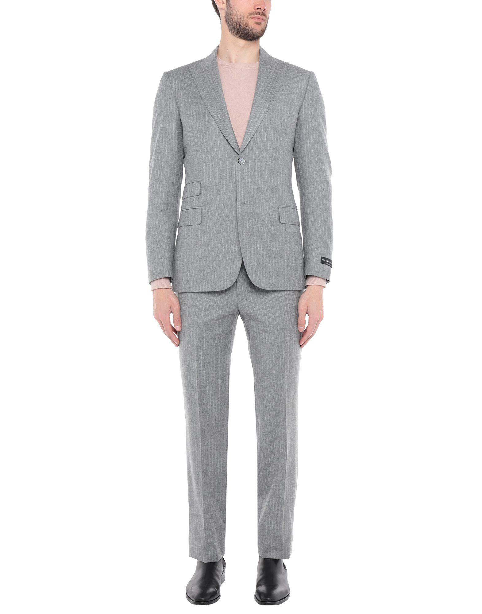 《送料無料》SARTORIA CASTANGIA メンズ スーツ ライトグレー 48 ウール 100%